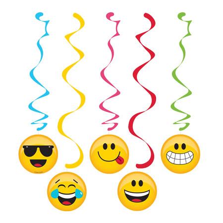 קישוטי תלייה מסיבת Emoji