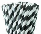 קשיות נייר פסים שחורים