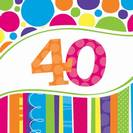 מפיות גדולות פסים ונקודות - גיל 40