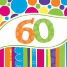מפיות גדולות פסים ונקודות - גיל 60