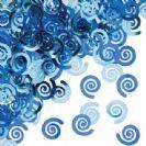 קונפטי ספירלה - כחול אמיתי