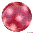 מגש עגול אדום נקודות