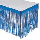 חצאית שולחן פרנזים כחול