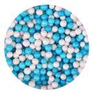פניני סוכר 100 ג' - כחול ולבן