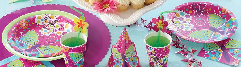 יום הולדת אפקט הפרפר | כלים חד פעמיים פרפר