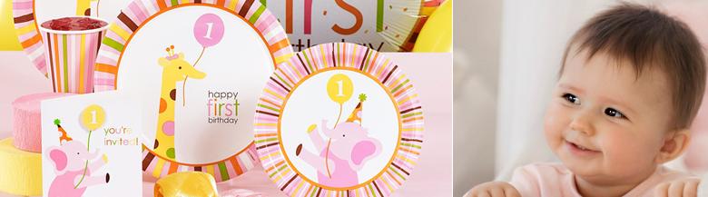יום הולדת ספארי בנות | כלים חד פעמיים ספארי