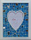 מסגרת לב בכחול
