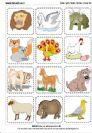 משחק האותיות- חיות ואותיות-אות פותחת מילה