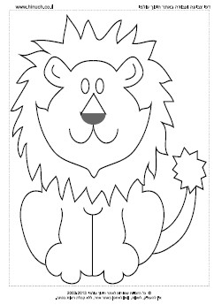 דפי צביעה אריות באתר חינוך עולמי