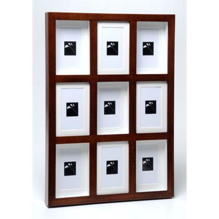 מסגרת עץ מפוארת ל- 9 תמונות דגם 181