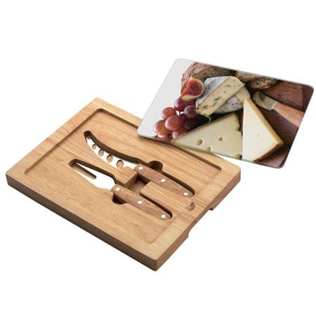 קרש גבינות מלבני עם 2 סכינים דגם 591