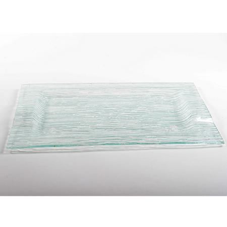 מגש מלבן מזכוכית עם ידיות דגם 710