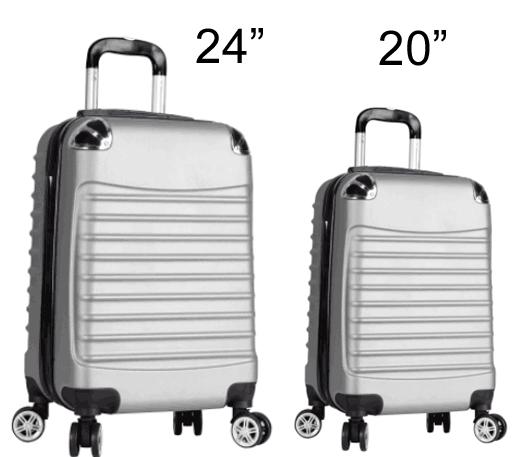 """חדש !!! סט מזוודות """"20 + """"24 דגם 756"""