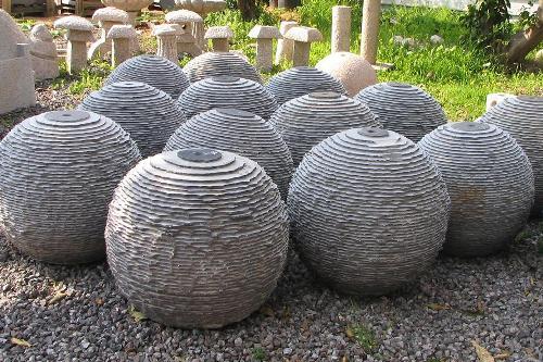 כדורי בזלת מחורצים לאלמנט מים