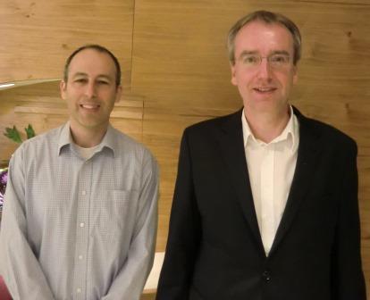 """פרופ' אנריאס היינמן עם ד""""ר טל ז'רסקי"""
