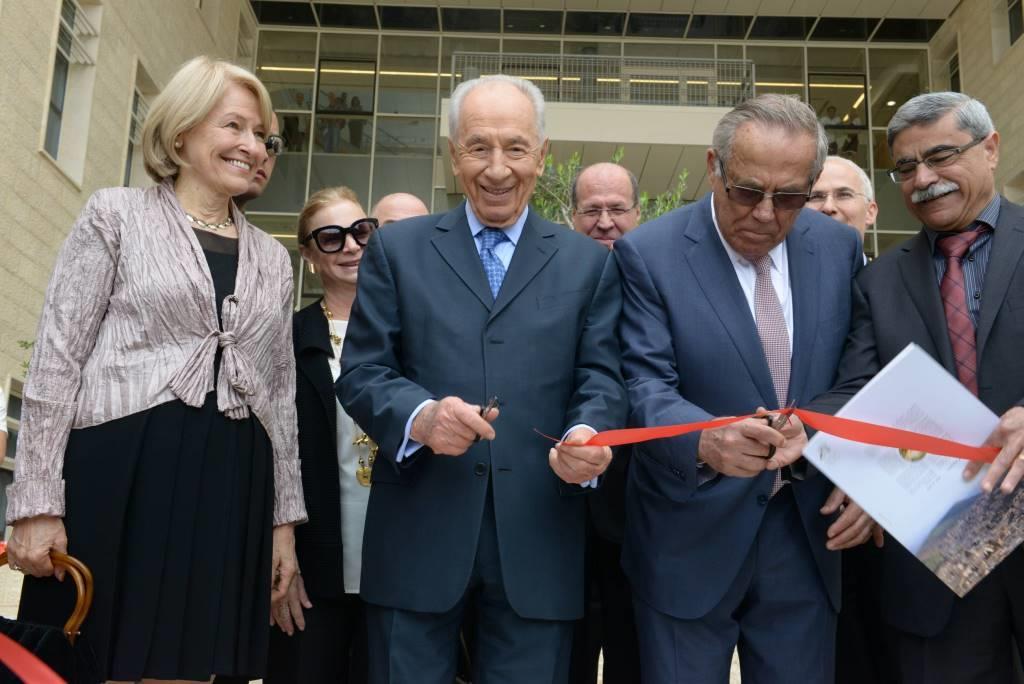 חנוכת המרכז עם נשיא המדינה