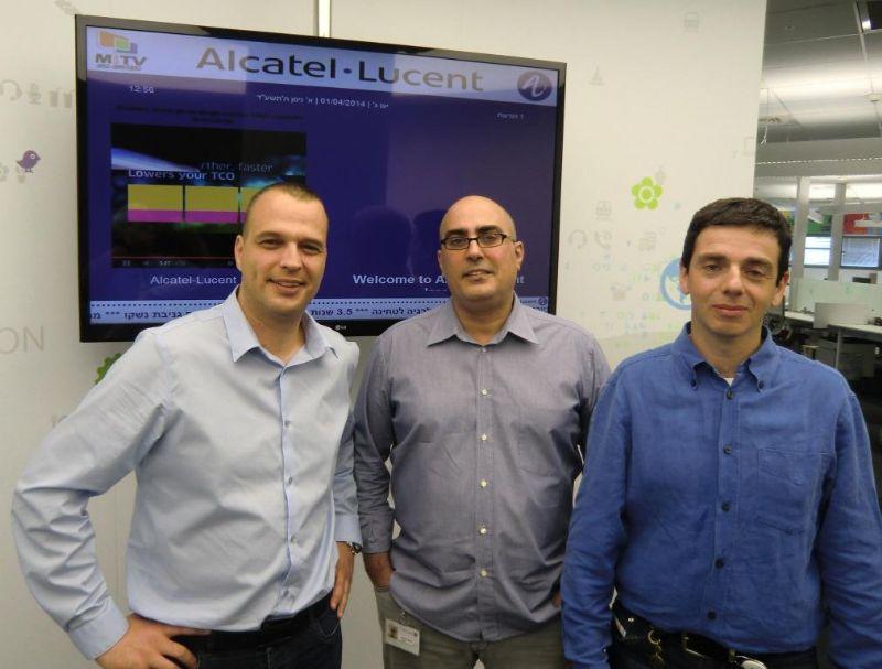 צוות הניהול באלקטל לוסנט ישראל
