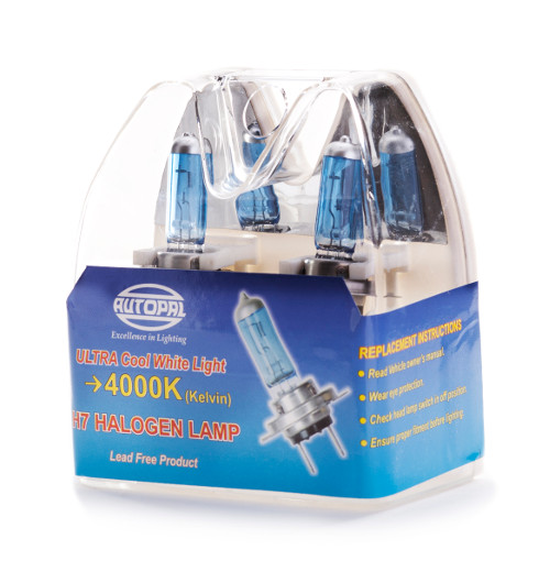 סט נורות H4 12V כחול
