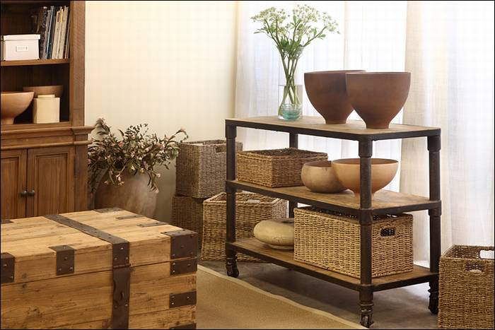 קונסולה Iron Wood סדרת עץ אלון jj-436