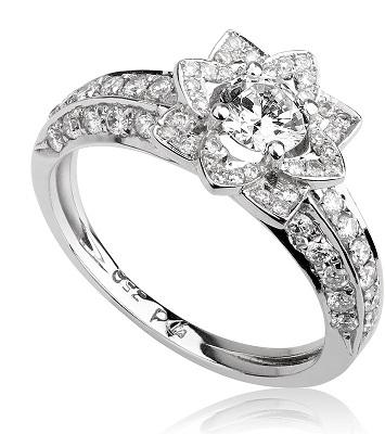 טבעת אירוסין - Flower