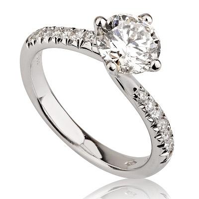 טבעת אירוסין - Twist