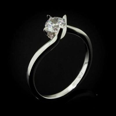 טבעת אירוסין זולה - Simple twist