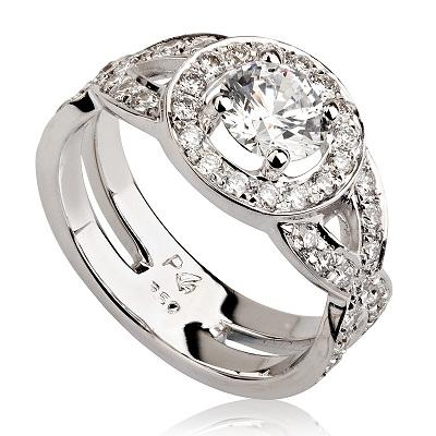 טבעת אירוסין מיוחדת - Braids