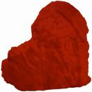 כרית לב אדום פרווה