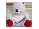 דובי לבן עם לב קטן