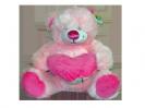דובי ורוד עם לב