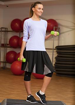חצאית ריצה - דגם משולשים