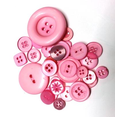 כפתורים מפלסטיק-מיקס וורוד