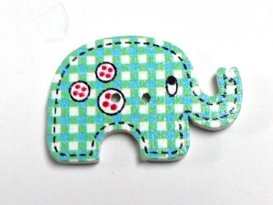 כפתורים מעץ-חיות(פילים)