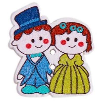 כפתורים מעץ-חתונות