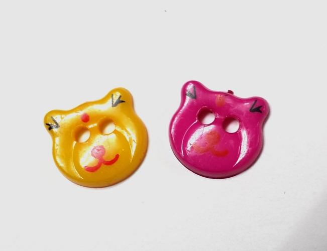 כפתורים מפלסטיק-חתולים