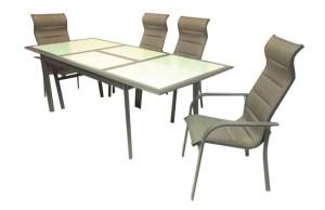 סט דגם בלק הכולל שולחן אלומיניום נפתח 1.6-2.4 +6 כסא בלק
