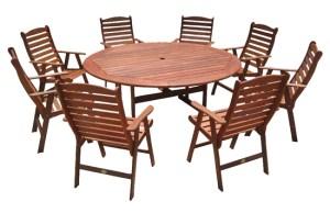 שולחן עגול + כיסאות למרפסת