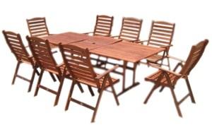 """סט ישיבה """"מדיסון"""" מעץ מלא - שולחן נפתח"""