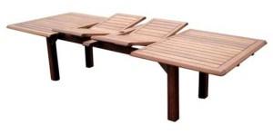 שולחן עץ נפתח 2000\3000 רוחב 1200