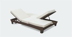 """מיטת שיזוף זוגית דגם """"סאן רמו"""""""