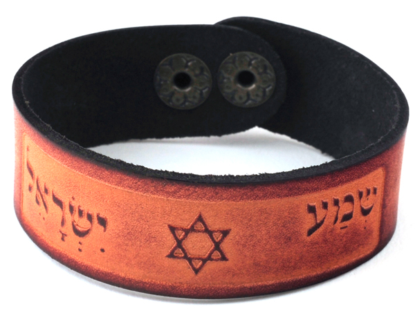 Accessories | Shema israel Bracelet | Light Brown