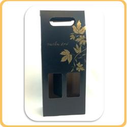 מארז יין שחור עם זהב