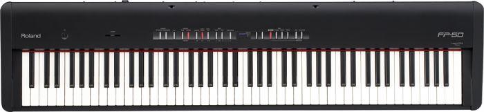 פסנתר דיגיטלי FP-50 צבע שחור או לבן ROLAND - מחיר סייל