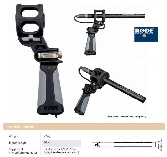 מחזיק אקדח למיקרופון + בולם RODE VC1 PG2