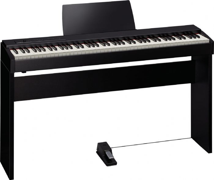פסנתר חשמלי נייח ROLAND F20 כולל סטנד עץ מהודר