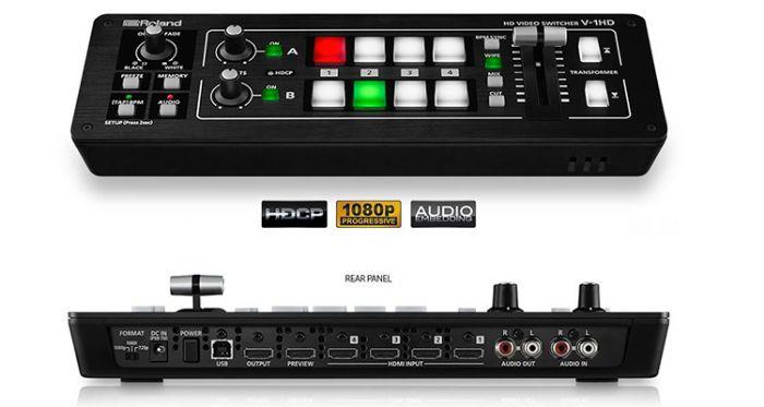 V1HD ROLAND מיקסר וידאו FULL HDMI