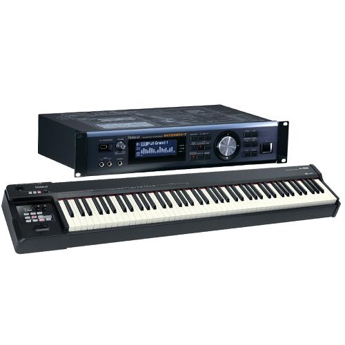 מקלדת שליטה פסנתרית ROLAND A88 עם מודול קצה עליון מבית  Roland INTEGRA 7