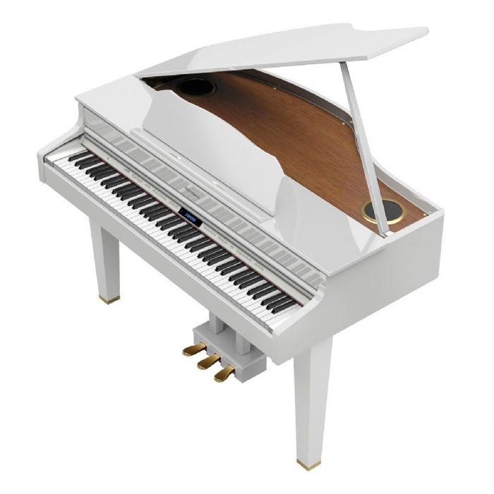 פסנתר כנף חשמלי  ROLAND GP607PWL בצבע לבן מבריק