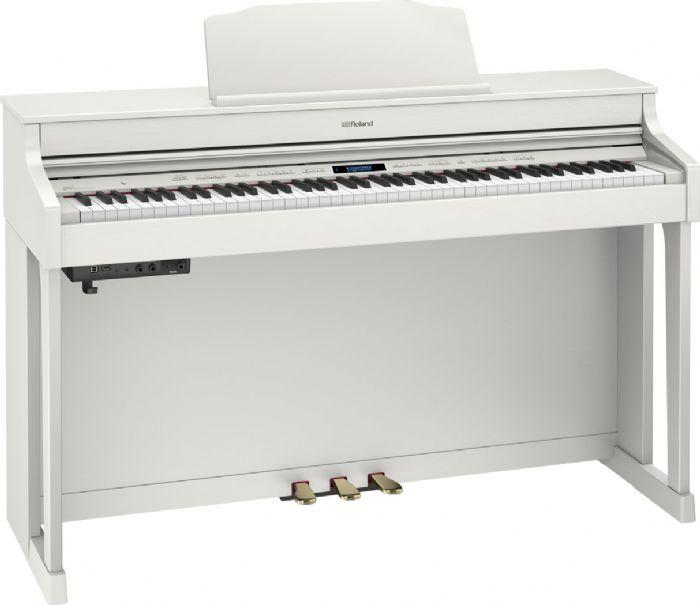 פסנתר חשמלי נייח ROLAND HP603A-WHL + סטנד KSC80WH