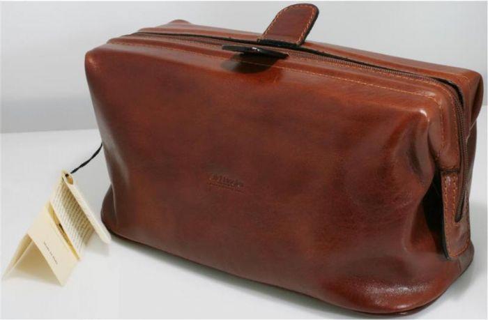 תיק רחצה מעור ברידג' דגם 654 חום